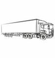 sketch long truck vector image