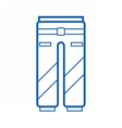 Sport Pants Icon vector image vector image