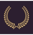 The laurel wreath icon Prize and reward honors vector image vector image