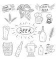 The set of hand drawn sketch of beer and home vector image vector image
