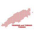 tobago island map - mosaic of heart hearts vector image vector image