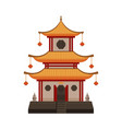 traditional chinese building oriental cultural vector image vector image