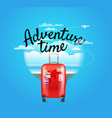 vacation travelling composition adventure time vector image