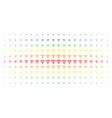 wi-fi source spectrum halftone array vector image vector image