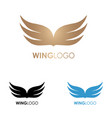 wings logo template vector image vector image