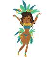 brazilian carnival vector image