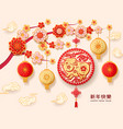 2019 chinese happy new year greetings with pig vector image vector image