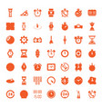 49 clock icons vector image vector image