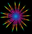 abstract rainbow sun burst star background vector image vector image