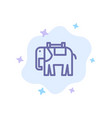 africa animal elephant indian blue icon on vector image