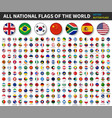 all national flags world convex button vector image