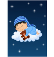 Baby sleeping on the cloud vector image vector image