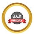 Black Friday sale icon vector image