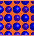 blue balls seamless pattern vector image vector image