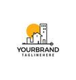 buildings logo minimalist logo design concept vector image vector image