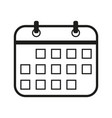 calendar sign black icon on vector image
