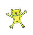 charming cartoon happy frog vector image vector image