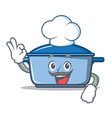 chef kitchen character cartoon style vector image