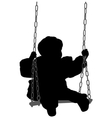 child swinging vector image
