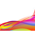 colorful abstract wave background vector image vector image