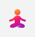 colorful yoga icon instagram gradient vector image