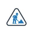 digging icon vector image
