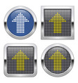 dotted icon upward direction arrow on glossy vector image vector image