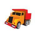 dump truck tip truck construction vehicle vector image vector image