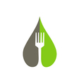 eco natural food fork logo vector image vector image