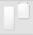 empty roll up set banners isolated transparent vector image