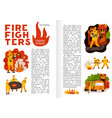 fire fighting flat infographics vector image vector image