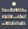 Flat Design Bookshelves vector image vector image