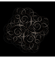 Floral pattern from curls Metal ornament vector image vector image