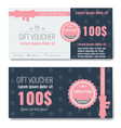 gift voucher template design with trendy modern vector image