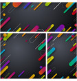 grey abstract backgrounds with colorful strokes vector image