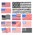independence day usa flags united states american vector image vector image