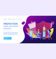 infant and child vaccination concept landing page vector image vector image