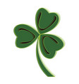 isolated traditional clover vector image vector image