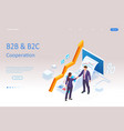 isometric business to business marketing b2b vector image