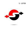 Letter S Icon Logo Alphabet S Icon Logo vector image