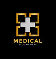 luxury medical logo icon design template vector image