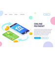 online payment isometric concept money vector image vector image
