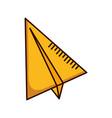paper plane creativity vector image vector image