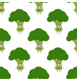 pattern with cartoon broccoli vector image vector image