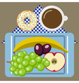 Picnic time nature outdoor recreation napkin vector image
