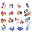 remote working icons set vector image vector image