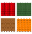 roof tiles set vector image