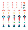 schoolgirl model with spare body parts and clothes vector image vector image