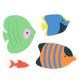 sea ocean fish species isolated aquarium habitats vector image