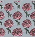 seamless floral pattern with peony vector image vector image